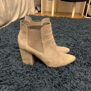 Gray suede cole haan booties